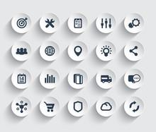 Web Icons Set, Marketing, E-co...