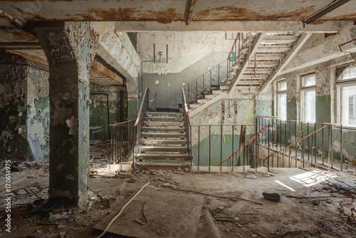 Fotografie, Obraz  Staircase Chernobyl