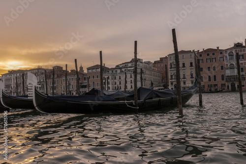 Spoed Foto op Canvas Gondolas Gondola in Venice, Italy