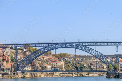 Deurstickers Australië Vista da Ponte Dom Luis no Porto