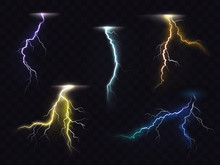 Colored Lightning Bolt Vector ...