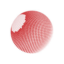 Abstract Globe Dotted Sphere. ...