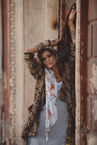 Poster Gypsy feminine style in clothes