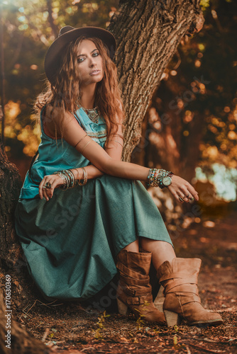 Foto auf AluDibond Gypsy western jeans style