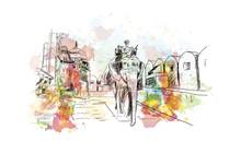 Watercolor Sketch Of Amer Fort...