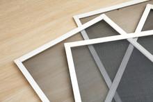 Mosquito Window Screens On Floor