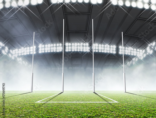 Photo  Sports Stadium And Goal Posts