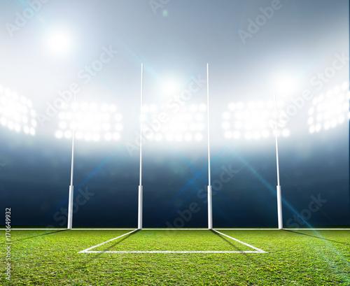 Papiers peints Sports Stadium And Goal Posts