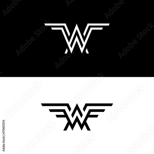 Clean Aw And Wa Logo Icon Company Signs Buy This Stock Vector And Explore Similar Vectors At Adobe Stock Adobe Stock
