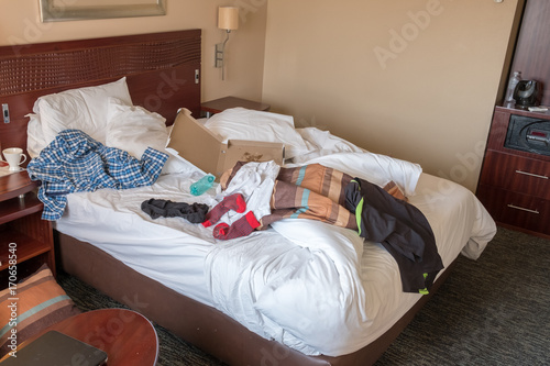 Messy Hotel Room After Being Trashed