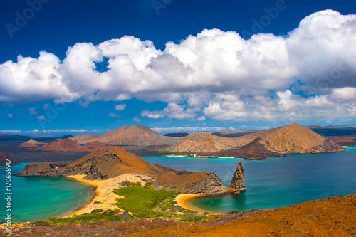 Spoed Foto op Canvas Eiland Galapagos Islands. Travel to Ecuador. Bartolome Island. San Salvador Island.