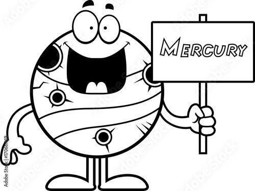 Fotografie, Obraz  Cartoon Mercury Sign
