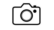 Simple DSLR Camera Icon Black