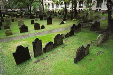 Cemetery With Tombstones In Trinity Church