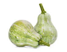 Young Green Pumpkin Isolated O...