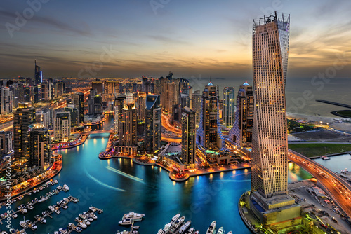 Dubai Marina Bay Canvas Print