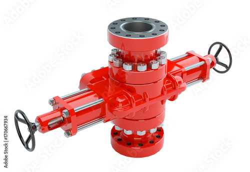 Photo Blowout preventer, isolated