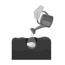 Watering Single Icon In Monoch...