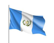Waving Flag Of Guatemala. Illu...