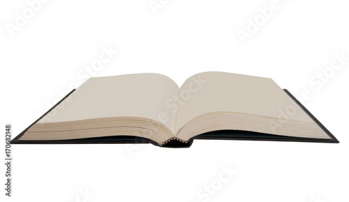 Fotografija  Open book, isolated on white, Blank pages.