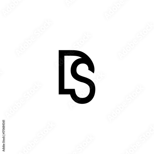 ds d s initial sign logo vector buy this stock vector and explore