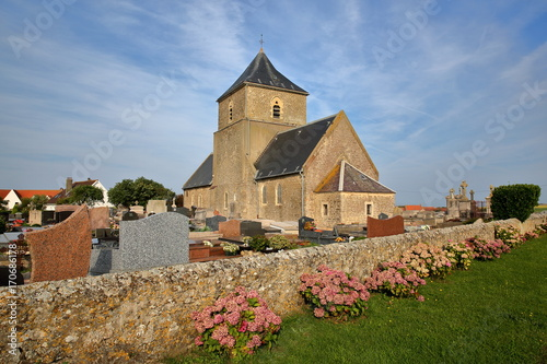 Obraz na plátně St Jean Baptiste Church in Audresselles, Cote d'Opale, Pas de Calais, Hauts de F
