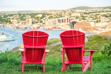 Panorama Of St. John's With Tw...