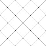 Abstract seamless pattern background. Regular diagonal grid of solid lines with dots in the cross points. Vector illustration. - 170699982
