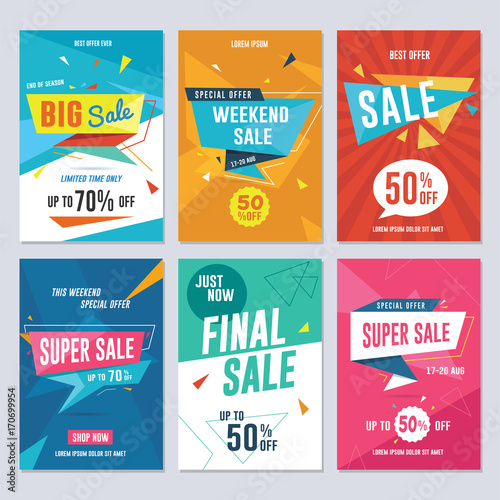 sale discount and promotion flyer banner template vector