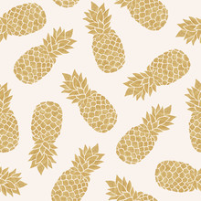 Seamless Pattern With Gold Pin...