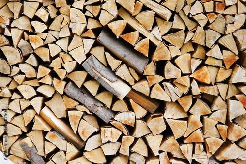 Poster Brandhout textuur fresh firewood texture