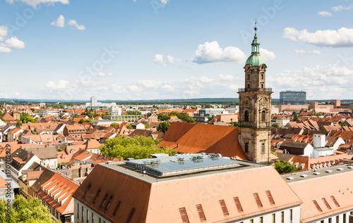 Foto  Aerial view over the city of Erlangen