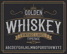 """Vintage Label Typeface Named """"Tennessee Whiskey""""."""