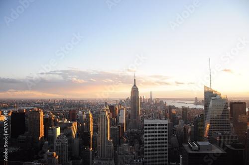 Foto op Aluminium New York New York City skyline at sunset