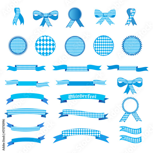 Fotografie, Obraz  Oktoberfest Holiday set of ribbons, labels, banners, bow tie, icons, cutting ribbon, sign