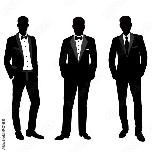 Fototapeta Wedding men's suit and tuxedo.
