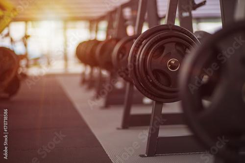 Fototapety, obrazy: Gym equipment Background