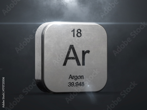 Photo Argon element from the periodic table