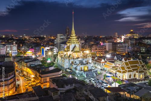 In de dag Bangkok Wat Traimit