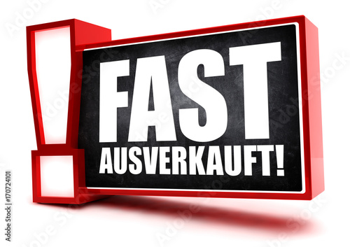 Fotografie, Obraz  Fast ausverkauft! Button, icon
