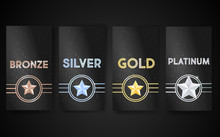 Set Of Black Vector  Banners W...