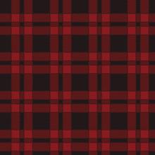 Seamless Pattern Of Red Tartan. Vector Illustration.