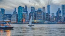 Lower Manhattan Skyline And Ea...