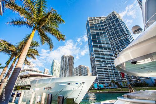 Yachthafen in Miami Florida