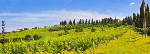In de dag Toscane Toskana-Panorama, bei Montespertoli