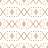 Geometric brown and white seamless pattern for fabrics - 170736367