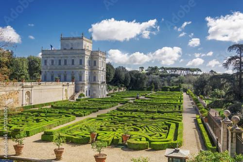 Obraz na plátně  Secret garden inside Villa Doria Pamhili in Rome, Italy