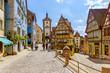 Rothenburg ob der Tauber with Sieber Tor at Plönlein