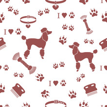 Seamless Pattern With Poodle S...