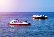 Empty Jet Ski And Motor Boat O...